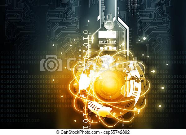 render, communication, concept., global, technologie, 3d - csp55742892