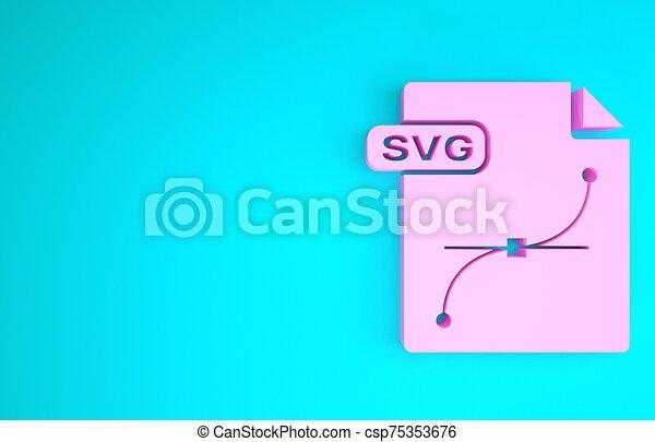 render, downloaden, concept., vrijstaand, 3d, document., bestand, achtergrond., blauwe , pictogram, illustratie, roze, knoop, svg, symbool., minimalism - csp75353676