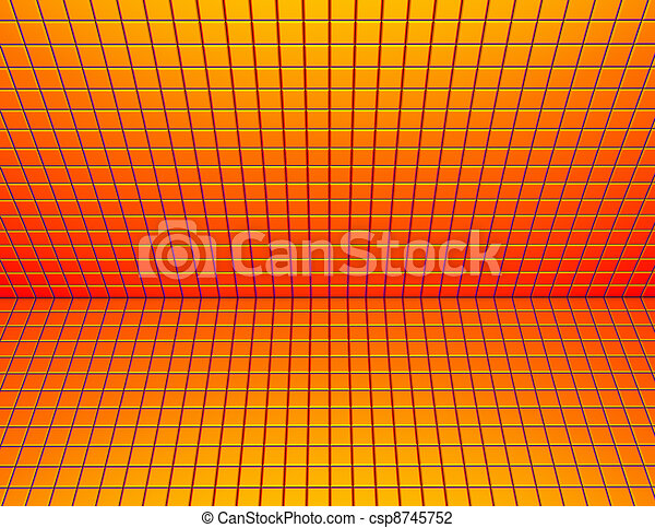 render plancher mur jaune trottoir carrel orange 3d rouges lustr. Black Bedroom Furniture Sets. Home Design Ideas