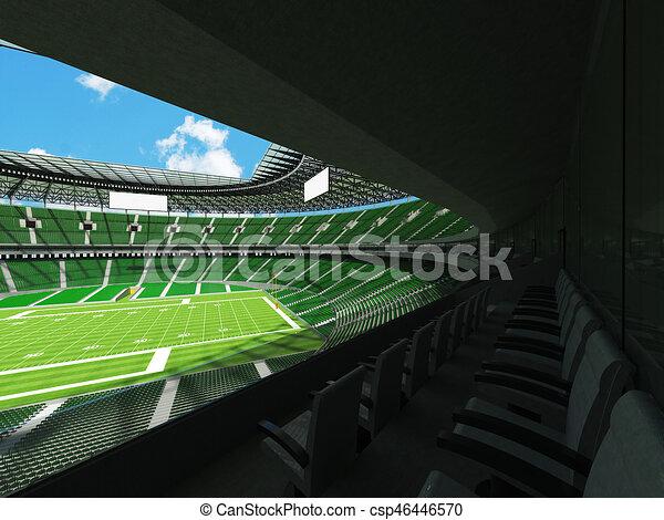 Render Tausend Fussball Fans Grun Stadion Setzt Hundert Runder 3d