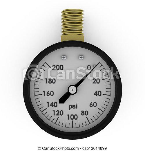 Rendered pressure gauge - csp13614899
