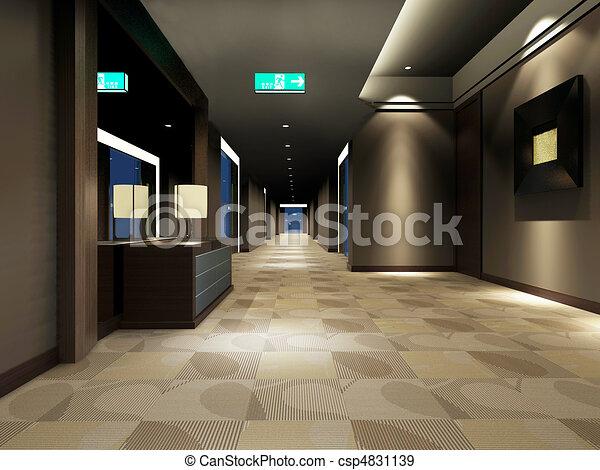 Rendering modern corridor - csp4831139