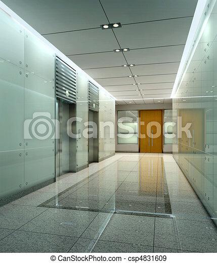Rendering modern corridor - csp4831609