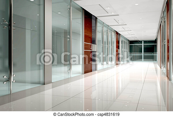 Rendering modern corridor - csp4831619