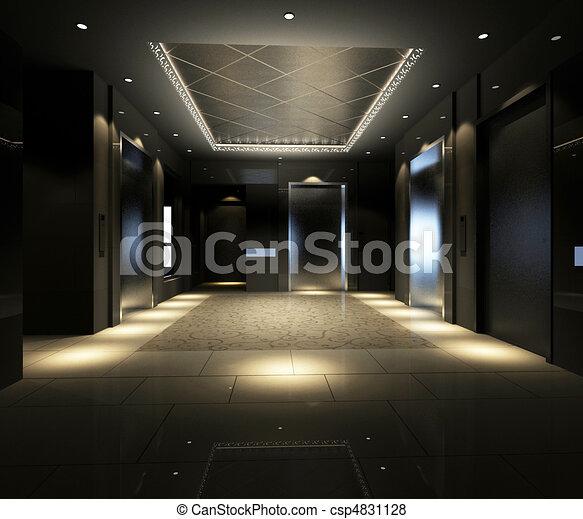 Rendering modern corridor - csp4831128