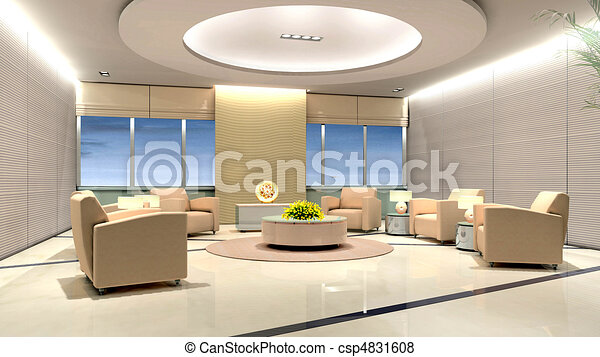 Rendering Modern office - csp4831608