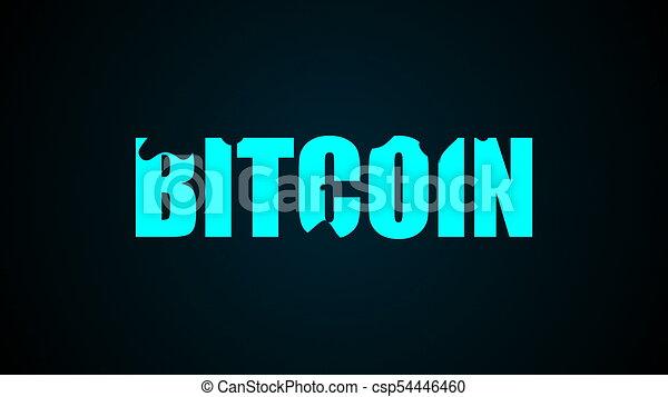 rendering., résumé, text., bitcoin, arrière-plan., numérique, 3d - csp54446460