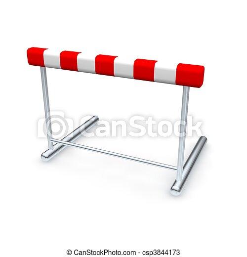 Hurdle. Ilustración 3D aislada en blanco. - csp3844173