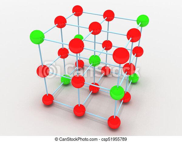 El Concepto De Estructura Molecular Cristalina Ilustración 3d