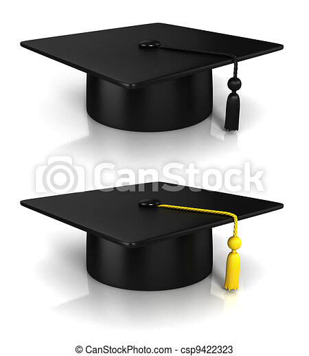 rendre, casquette, remise de diplomes, 3d - csp9422323