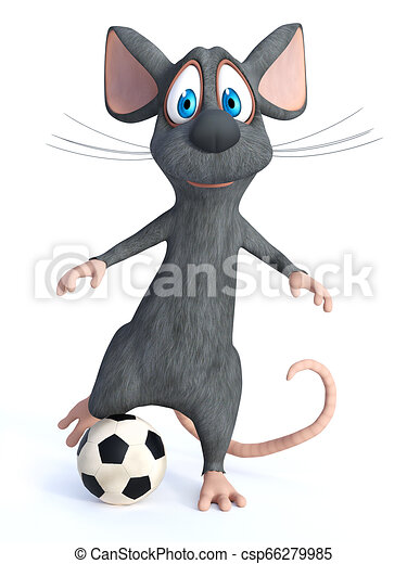 Rendre Donner Coup Pied Football Souris Dessin Anime Ball 3d Mignon Arriere Plan Donner Coup Pied Dessin Anime Canstock
