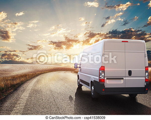 rendre, transport, truck., 3d - csp41538009
