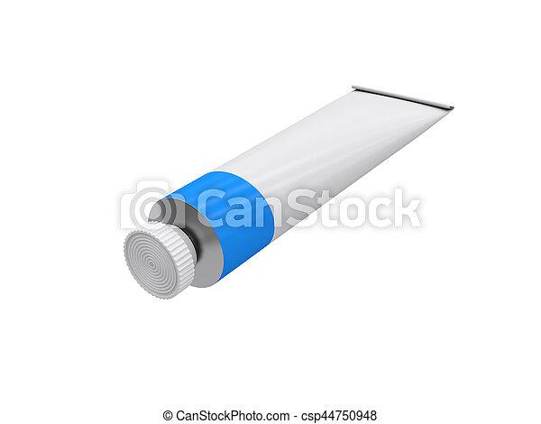 rendre, tube, fond, blanc, 3d - csp44750948