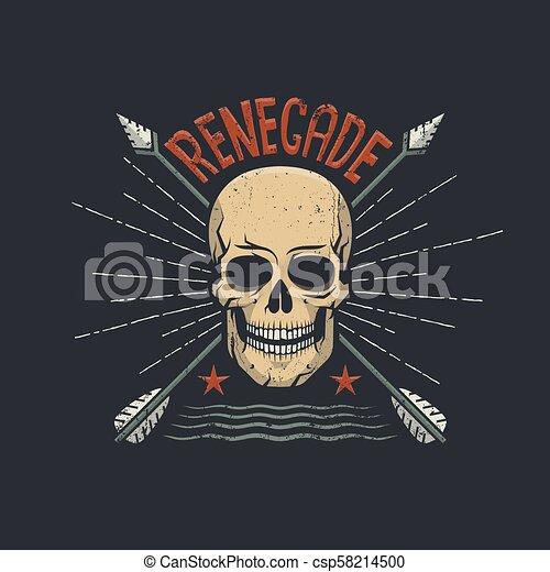 Renegade skull with arrows - csp58214500