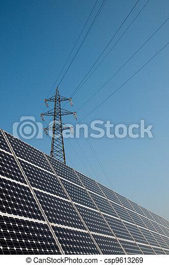 Renewable energy: solar panels - csp9613269
