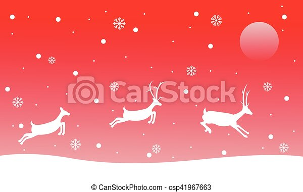 Sfondi Natalizi Renne.Renna Paesaggio Sfondi Natale Rosso Sfondi Renna Vettore