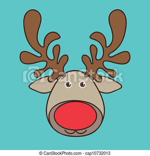 Rudolph La Renna Di Babbo Natale.Renna Rudolph Rudolph Renna Illustrazione Natale Vettore