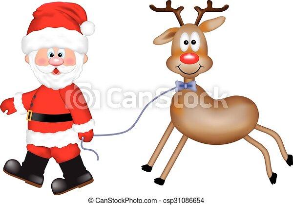 renne, claus, santa - csp31086654