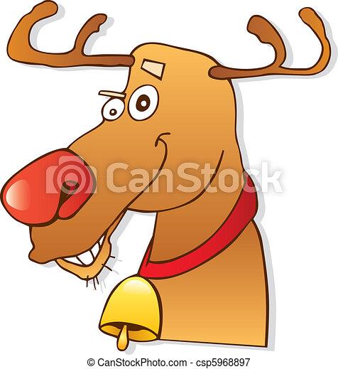 renne, nez, rouges - csp5968897