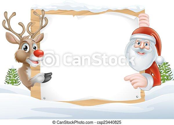 renne, santa, signe - csp23440825