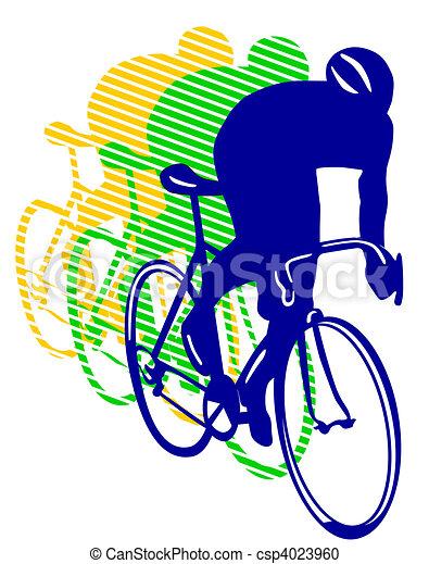 rennende fiets - csp4023960