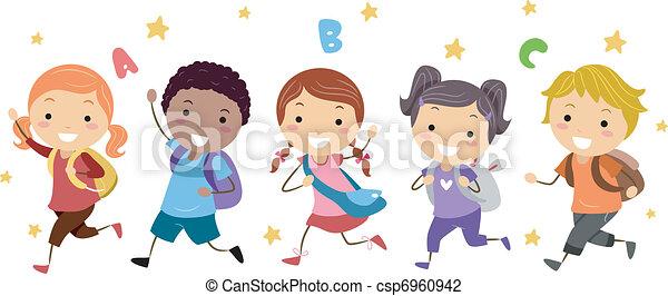 rennende , geitjes - csp6960942