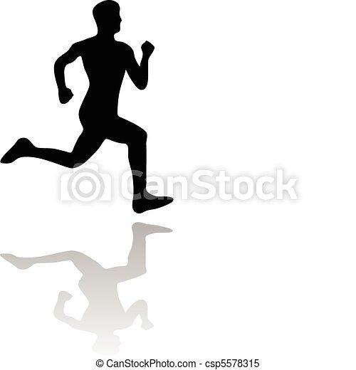 rennende , man - csp5578315