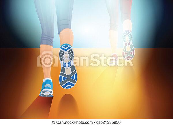 rennende , mensen - csp21335950