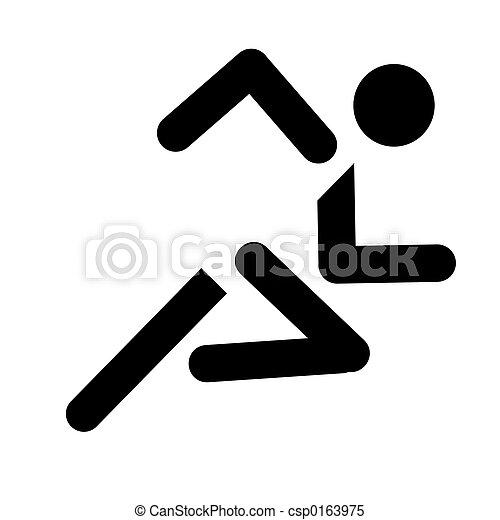 rennende , sport symbool - csp0163975