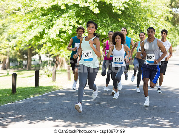 rennender , athleten, marathon - csp18670199