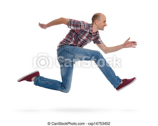 Der junge Mann läuft - csp14753452