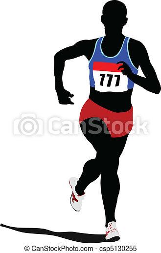 rennender , peop, athletics., plakat - csp5130255