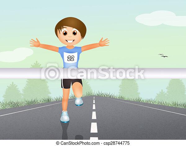 rennender , rennen - csp28744775