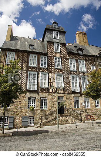 Rennes timbered buildings - csp8462555
