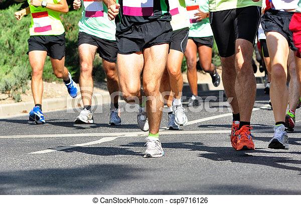 rennfahrer, marathon - csp9716126