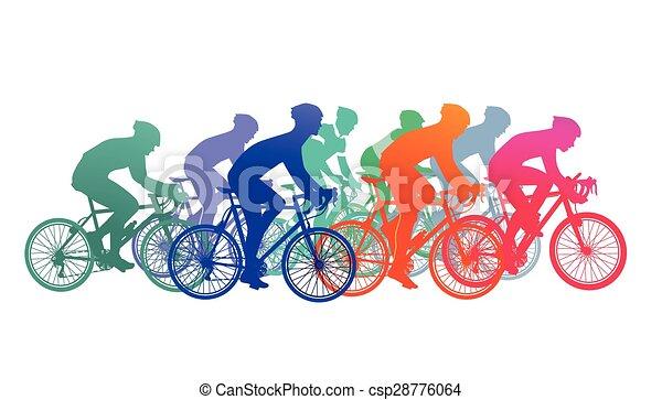 Rennrad fahren - csp28776064