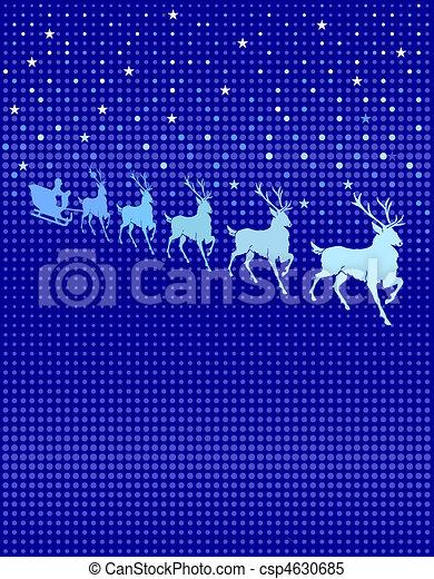 Un reno en el cielo - csp4630685