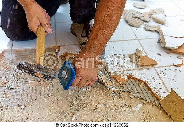 renovate and refurbish the bathroom - csp11350052