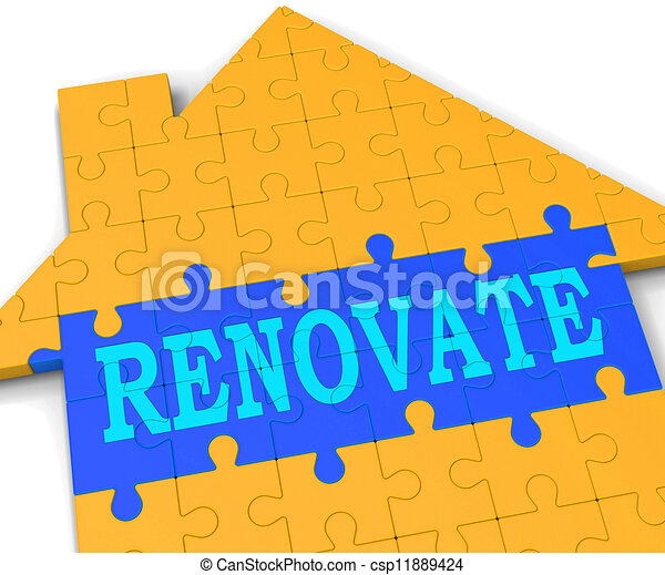 renovate house shows improve and construct csp11889424