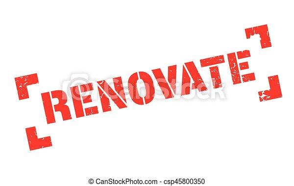 renovate rubber stamp csp45800350
