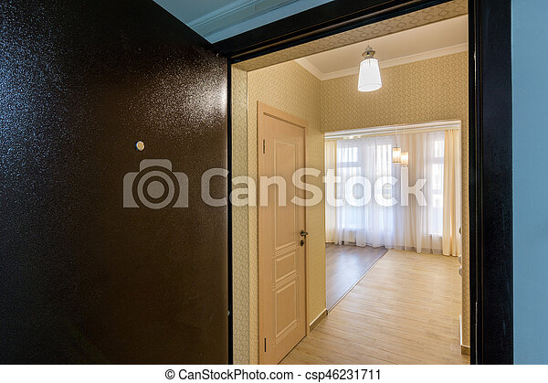 Renovated Apartment In New Building, View From The Open Front Door