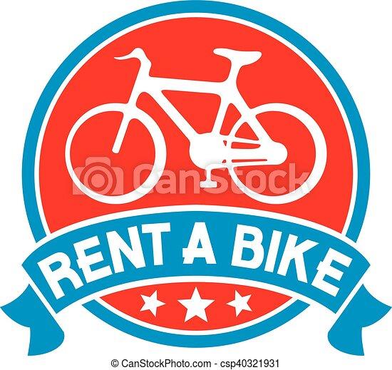 rent a bike label - csp40321931