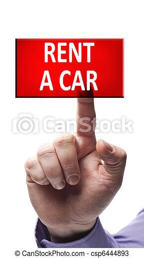 Rent a car button - csp6444893