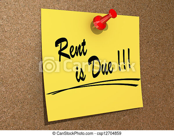 Rent is Due - csp12704859