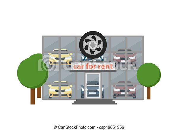 Prime Rental Business Icon With Car Showroom Download Free Architecture Designs Scobabritishbridgeorg