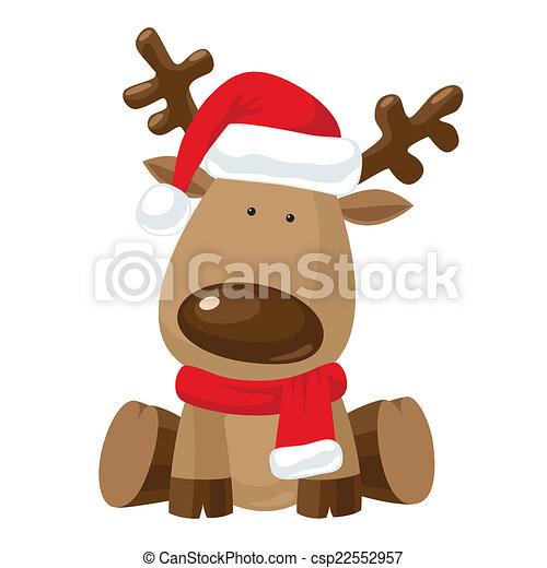 rentier hut weihnachten rotes santa s sitzen. Black Bedroom Furniture Sets. Home Design Ideas