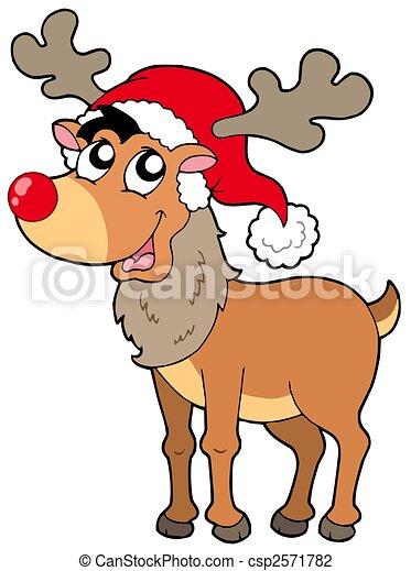 Bilder Rentiere Weihnachten.Rentier Karikatur Weihnachten