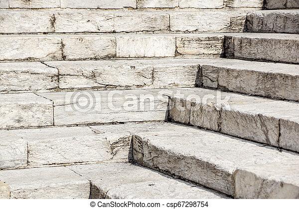 repères, pierre, blanc, diagonal, résumé, noir, escalier, photo, granit, ville, vu, souvent, étapes, monuments, large, escalier, escalier, blanc - csp67298754