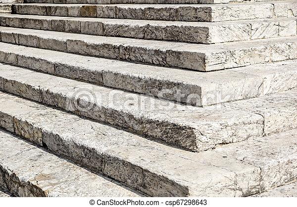 repères, pierre, blanc, diagonal, résumé, noir, escalier, photo, granit, ville, vu, souvent, étapes, monuments, large, escalier, escalier, blanc - csp67298643