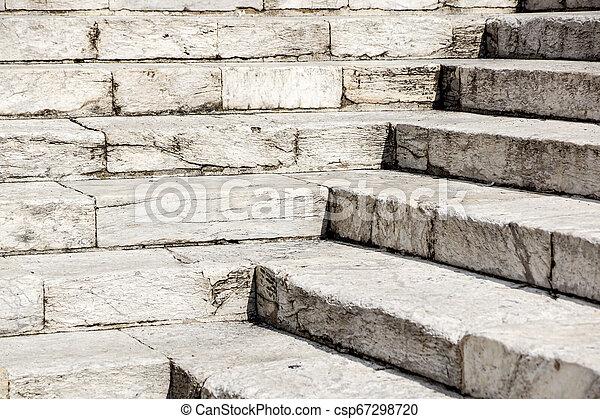 repères, pierre, blanc, diagonal, résumé, noir, escalier, photo, granit, ville, vu, souvent, étapes, monuments, large, escalier, escalier, blanc - csp67298720